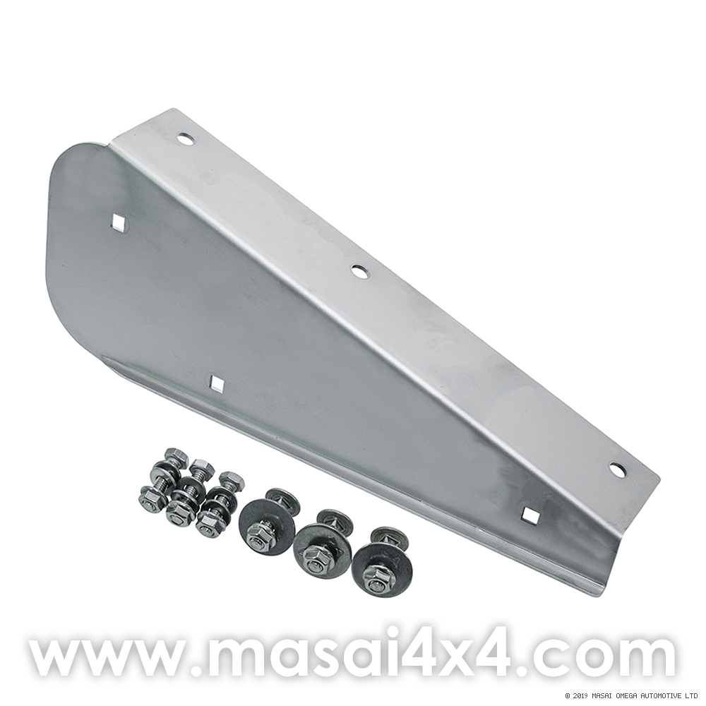 Left Hand Rear Stainless Steel Mudflap Bracket for Land Rover 90