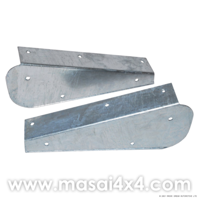 Rear Galvanised Mudflap Brackets (Pair) for Land Rover Defender 90