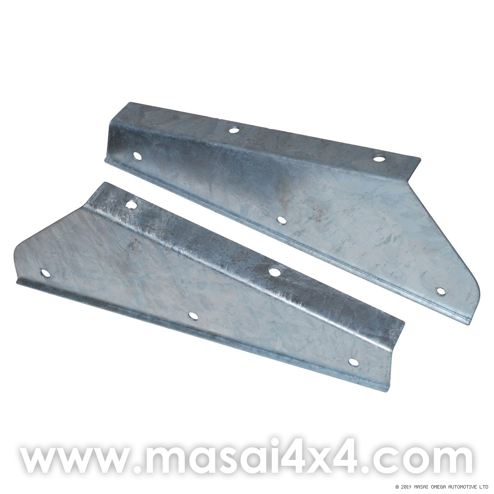 Front Galvanised Mudflap Brackets (Pair) for Land Rover Defender 90/110/130