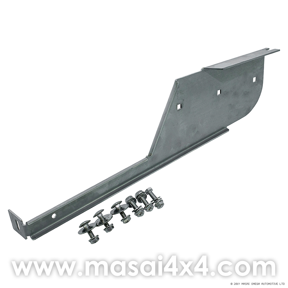 Right Hand Rear Stainless Steel Mudflap Bracket for Land Rover 110/130