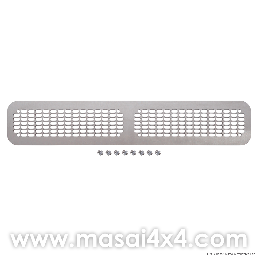 Lower Front Grille for Defender without Air Con - Stainless Steel