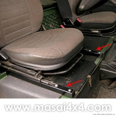 Extended Slide Seat Risers - Defender 90/110 (PAIR)