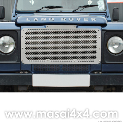 Front Upper Grille for Defender (Non-Aircon) - Stainless Steel