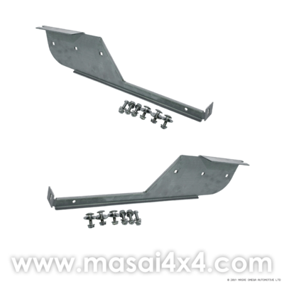 Rear Stainless Steel Mudflap Brackets (Pair) for Land Rover 110/130