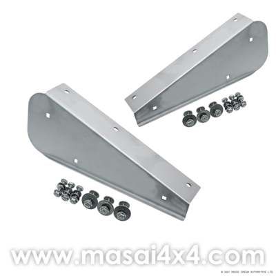 Rear Stainless Steel Mudflap Brackets (Pair) for Defender 90