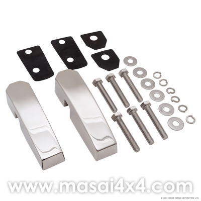 Aluminium Windscreen Brackets (Pair) - Silver, Black or Stainless Steel