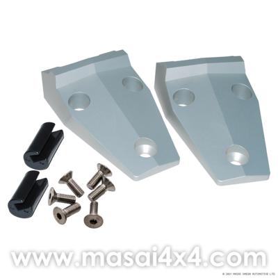 Bonnet Hinges Kit - Aluminium/Stainless - Defender
