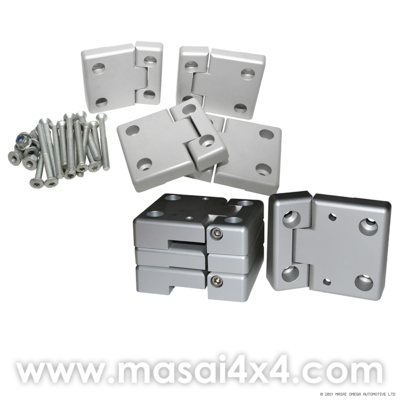 Anodised Aluminium Front and 2nd Row Door Hinges Set