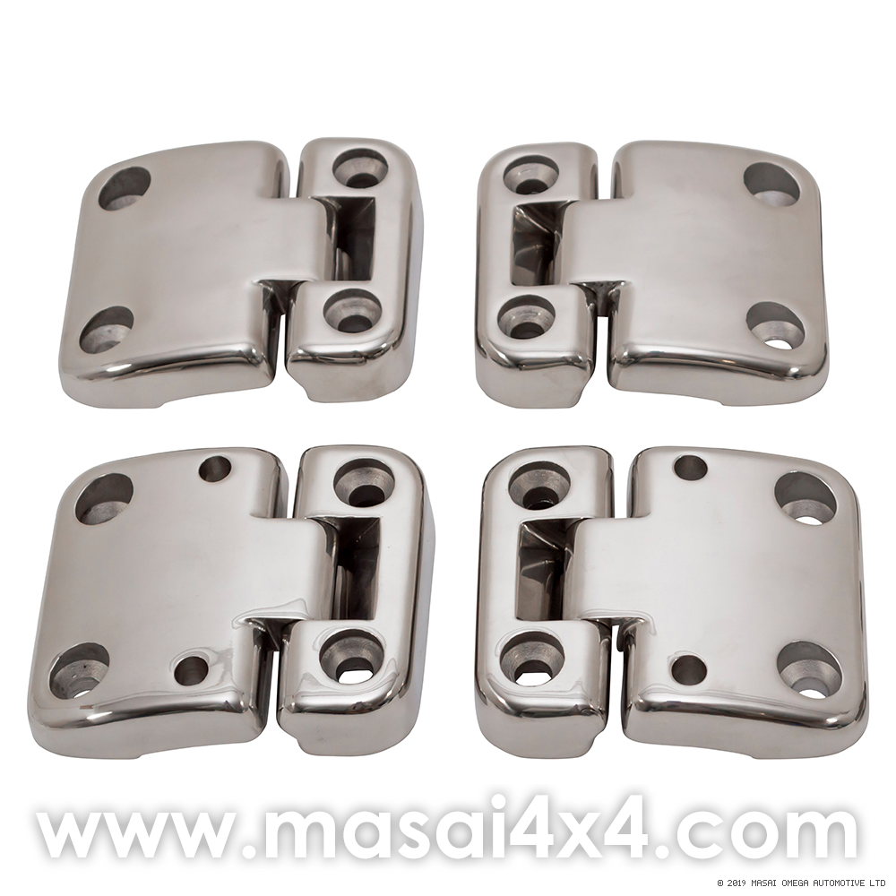 Stainless Steel Front & 2nd Row Door Hinges & Brackets Kit