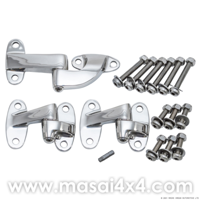 Stainless Steel Rear End Door Hinge Kit