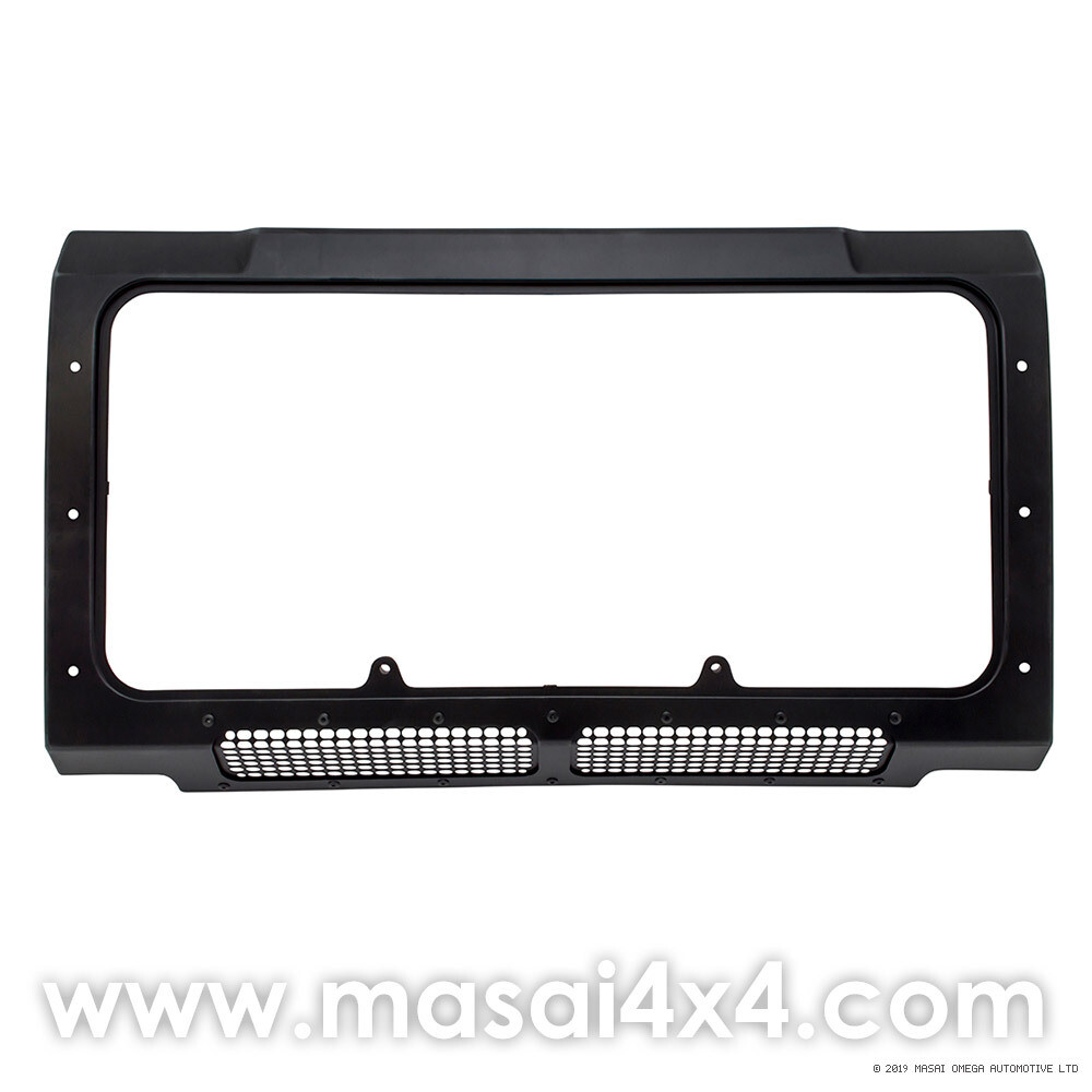 Front Panel for Grille - Defender (Air Con Models) - Black with lower mesh