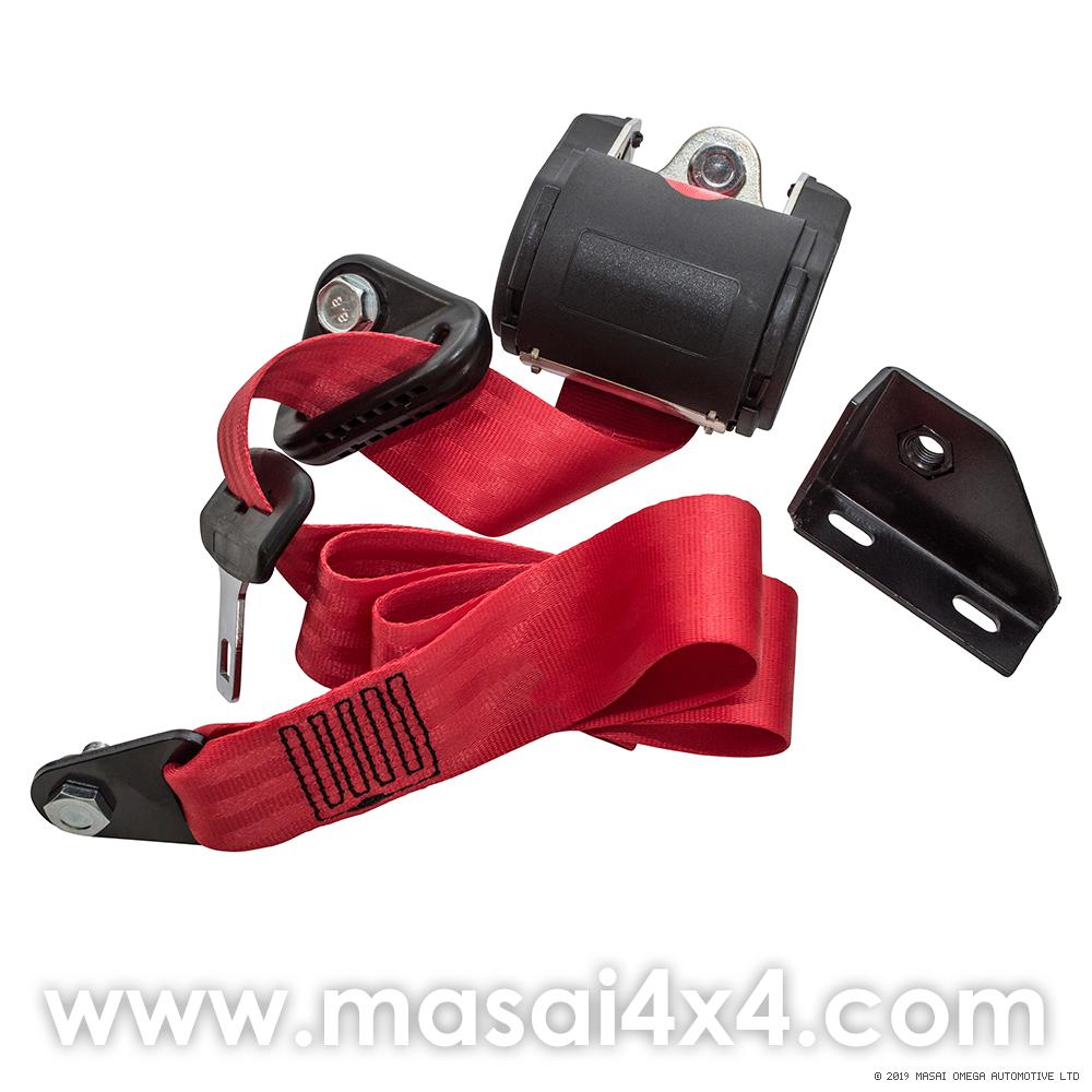 Front Seat Belt Set for Defender 110 Station Wagons ONLY (TD5 Onwards) - Red
