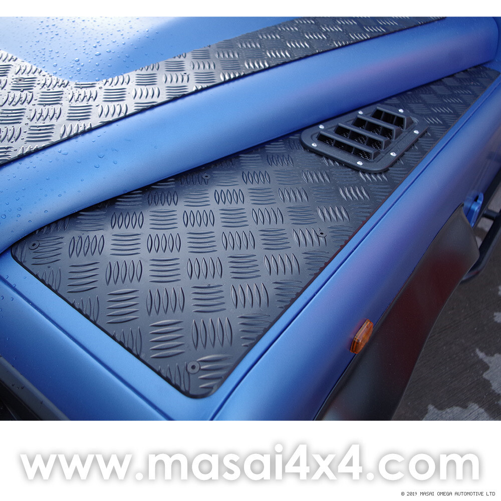 Wingtops Chequer Plate (3mm Aluminium) for Land Rover Defender 90/110 - PAIR
