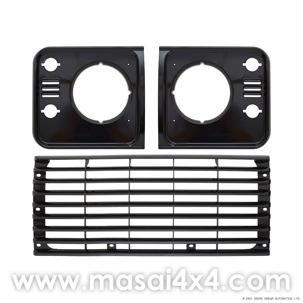Front Grille and Headlight Surround Kit (Santorini Black / Indus Silver / Brunel Grey)