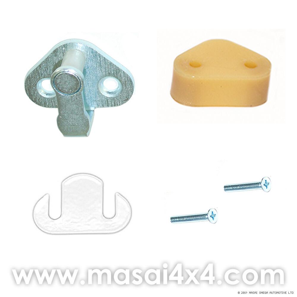 Door Striker Kit - For Defender 90/110 - 1987 Onwards (Push Button Handles)