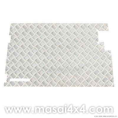 Rear Door Chequer Plate w/o Wiper - Defender 90/110 (Pre 2002 Rear Doors)