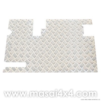 Rear Door Chequer Plate with Wiper - Defender 90/110