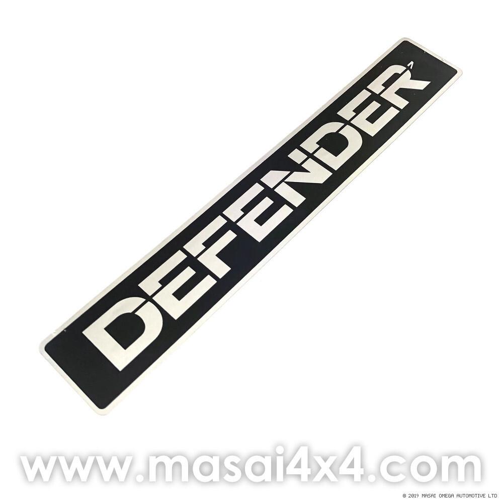 Front Grill Badge - DEFENDER Decal, Self Adhesive (Genuine LR)