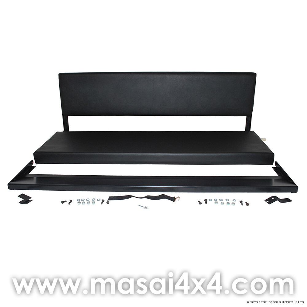 Bench Seat (3 Seater) for Land Rover Defender 110 - BLACK Vinyl