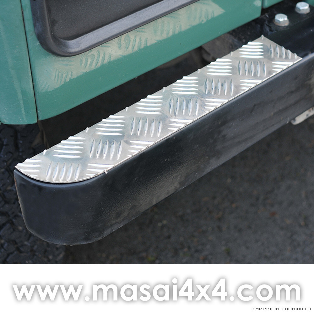 Bumper Top Chequer Plates (Aluminium Finish) - PAIR