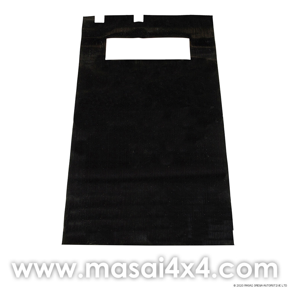 Ribbed Rubber Loadspace Mat - Defender 110 - 5 Seat Configuration (1565mm x 920mm x 3mm)