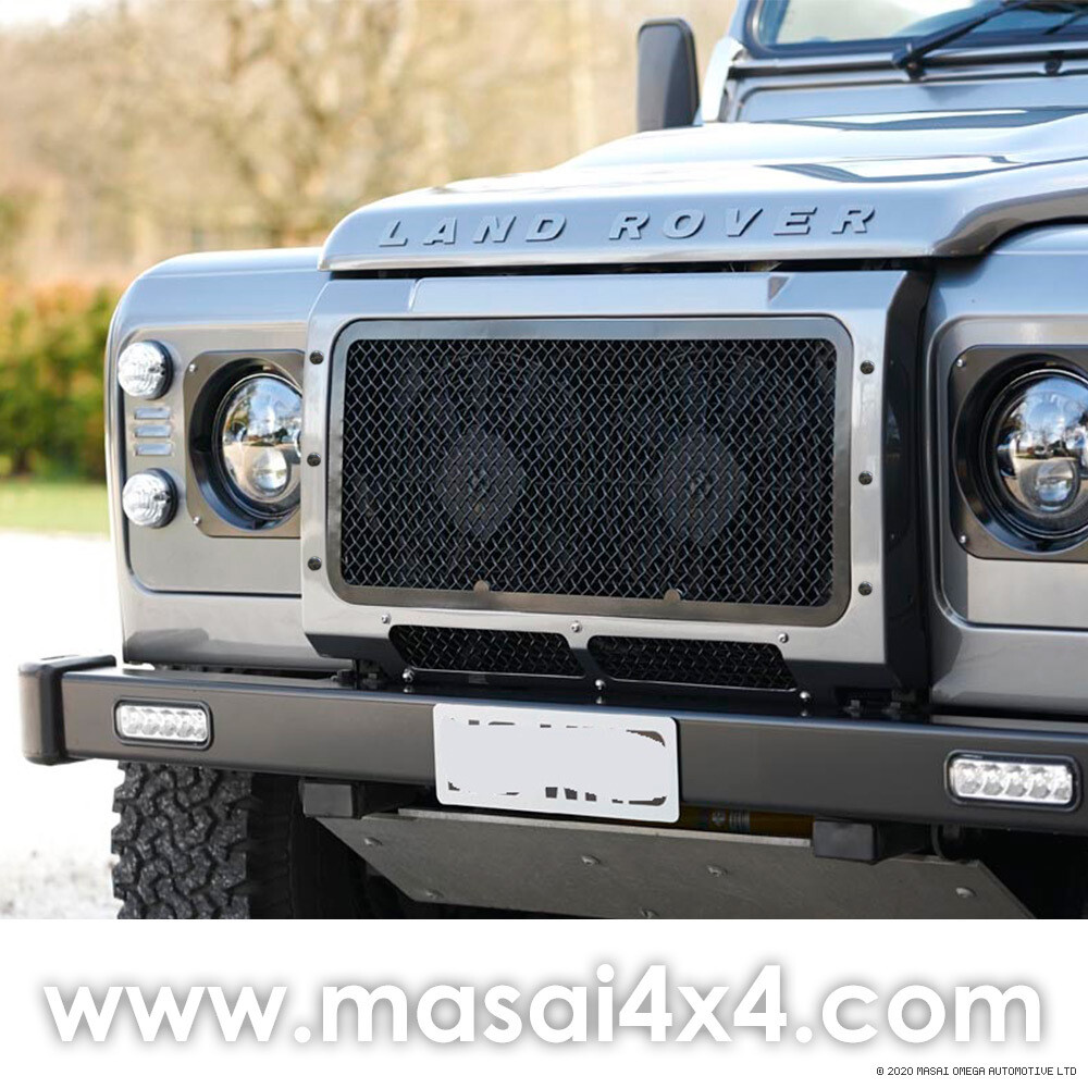 Front Upper Mesh Grille for Defender (With Aircon Only) - Stainless Steel