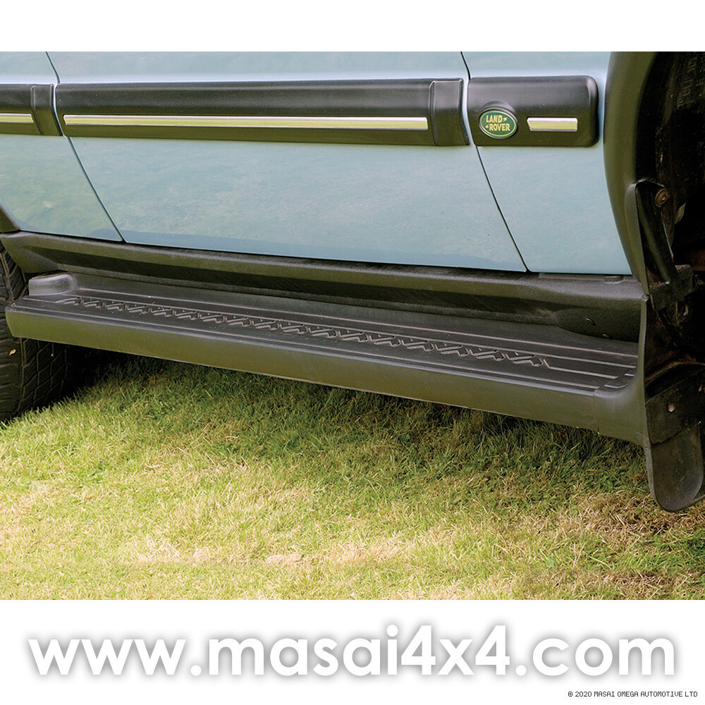 Discovery Series 2 Side Steps with Mudflaps (Chevron Tread) - PAIR