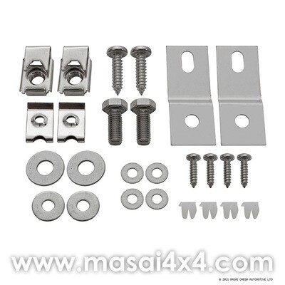 Stainless Steel Air-Con Front Panel Bracket Kit - Defender