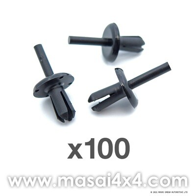 Wheel Arch Fixing for Defender - 6mm Plastic Rivet - (Pack of 100)