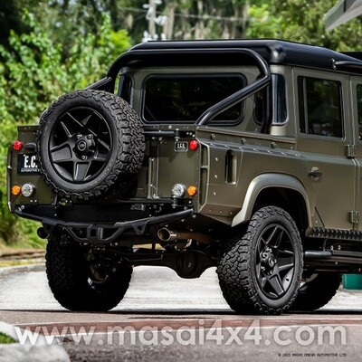 Fixed Heated Rear Window for Defender Crew Cabs (4mm Glass) - Dark Tint