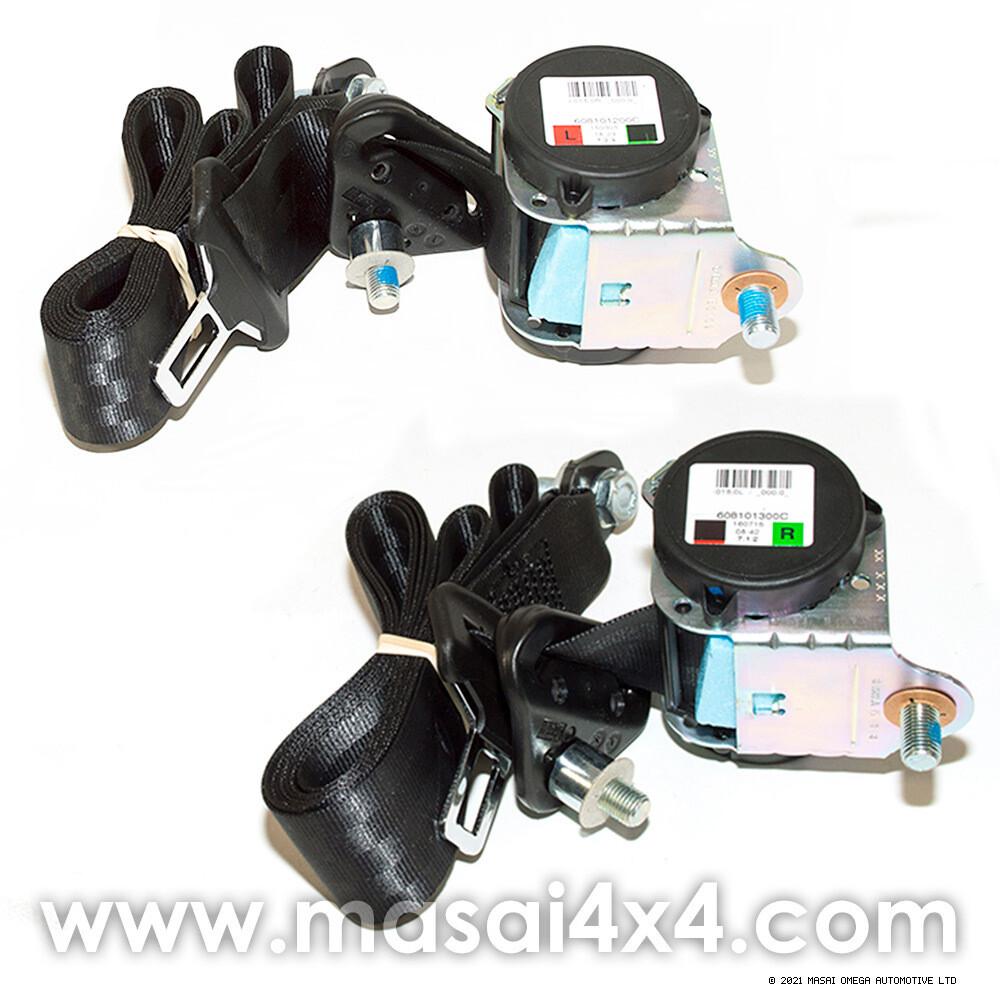 Rear Outer Seat Belt Set for Defender 110 (From YA183533) (Black)