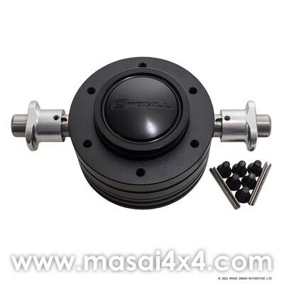 Optimill Steering Wheel Boss with Quick Release for Defender 36/48 Spline (For Momo Steering Wheels)