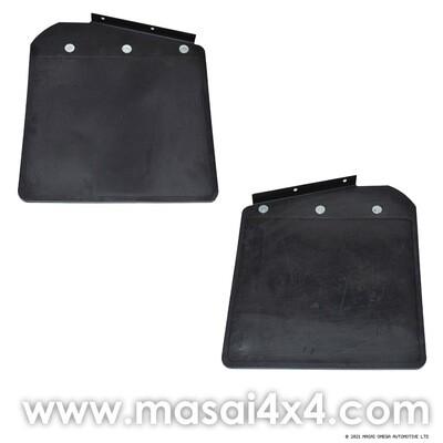 Front Mudflaps Inc Bracket 90/110 - PAIR (Aftermarket, No Logos)