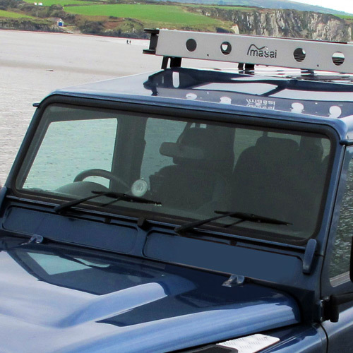 Windscreen Glass for Land Rover Defender - Heated, for all post 1985 Defenders (5% Green Tint)