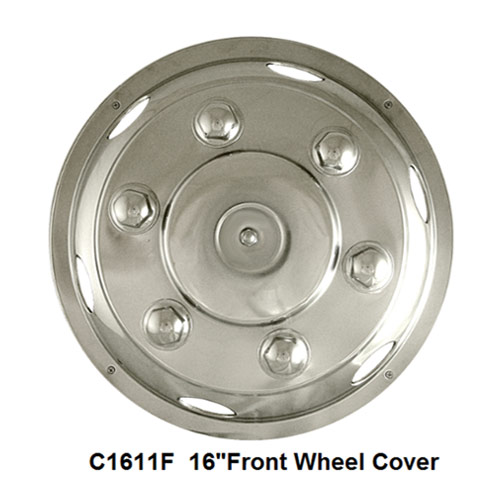 Stainless Steel HGV Wheel Trims / Covers / Liners, 16