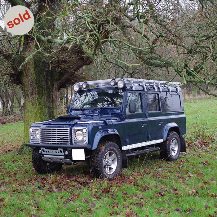 Blue 2003 Land Rover Defender 110 TD5 XS