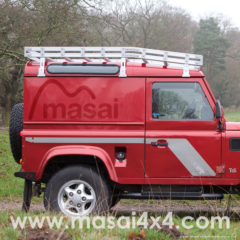 Aluminium Curved Luggage Roof Rack for Land Rover Defender - BLACK
