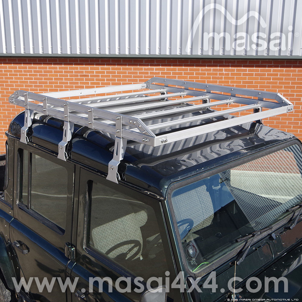Aluminium Double Open End Luggage Roof Rack for Land Rover Defender
