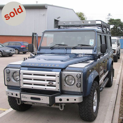 Blue 2007 Land Rover Defender XS Utility 110