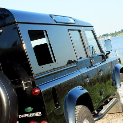 Sliding Masai Panoramic Tinted Windows for Land Rover Defender 110 4-Door - (ON BACKORDER, SEE DESCRIPTION)