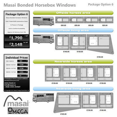 Option 6 Package - Tinted Bonded Horsebox Windows