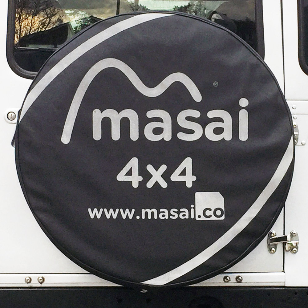 Spare Wheel Cover - Masai Design (Vinyl Leather)