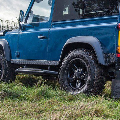 Side Sill Protectors - Aluminium Chequer Plate for Land Rover Defender 90 and 110