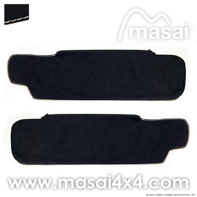 Sun Visor Covers for Land Rover Defender (Vinyl Style, 4 Styles) - PAIR