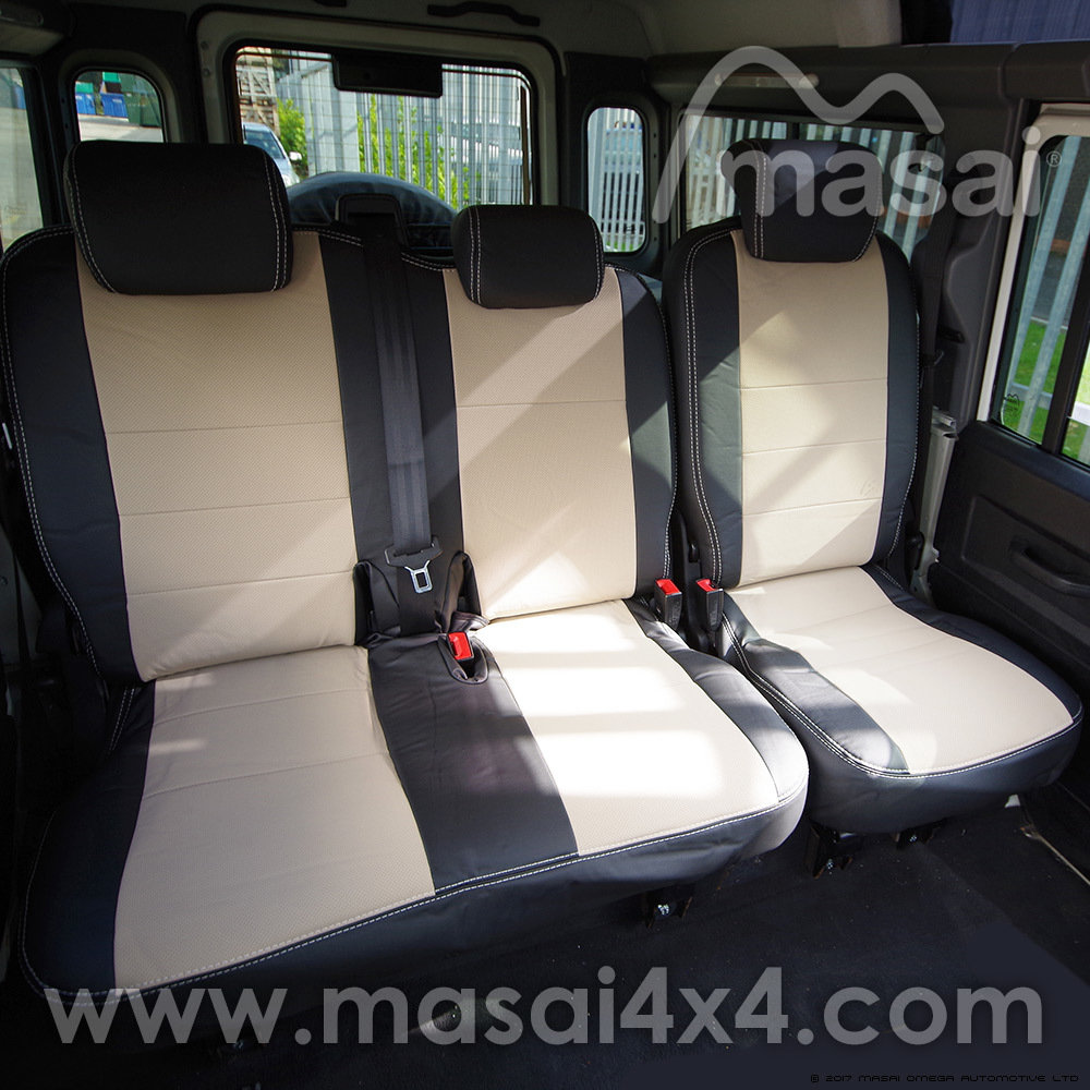 Middle Row Seat Covers for Land Rover Defender Puma/TDCi (2007-2016) DELUXE - PAIR