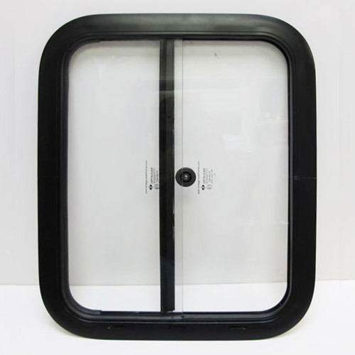 Side Windows - 18 x 22 inches, black finish