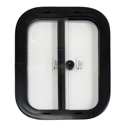 Side Windows - 14 x 18 inches, black finish