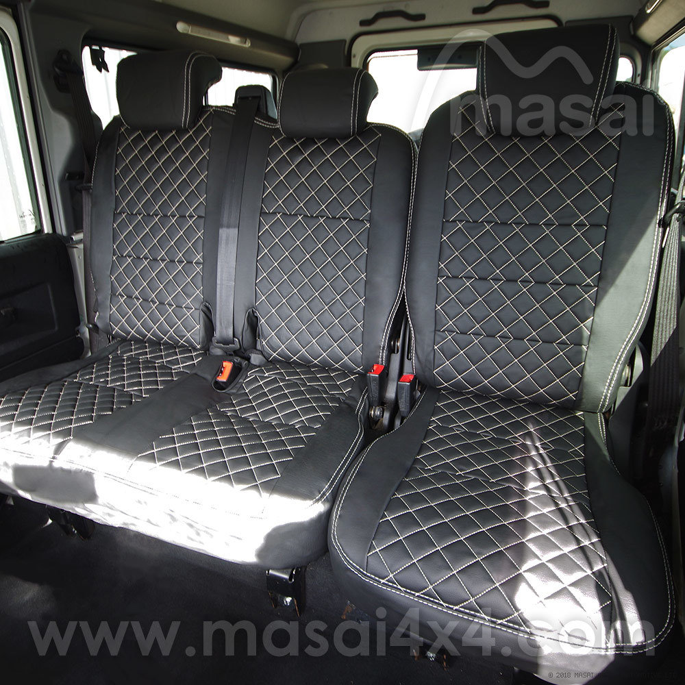 Middle Row Seat Covers for Land Rover Defender Puma/TDCi (2007-2016) DELUXE DIAMOND - PAIR