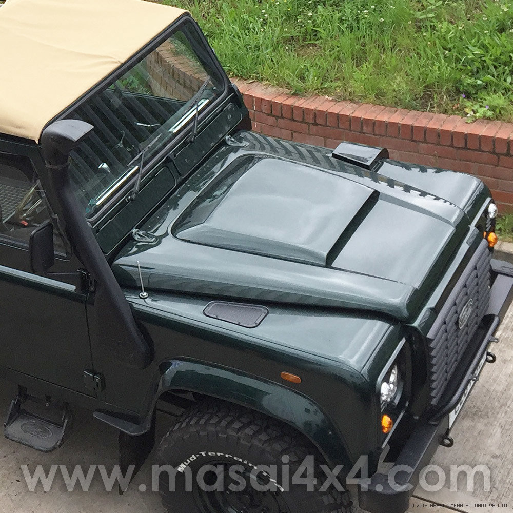 Masai Sport Bonnet Scoop for Land Rover Defender - GRP Fibreglass
