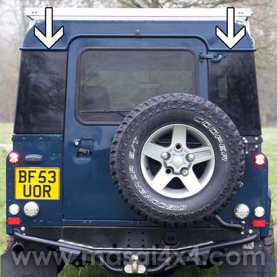 Masai Panoramic Bonded, Dark-tint Rear Quarter Windows for Defender 90 & 110 (PAIR) - (ON BACKORDER, SEE DESCRIPTION)
